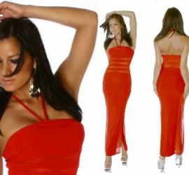 Red Sheer Inlay Dress