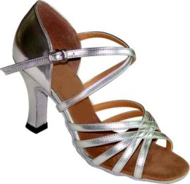 Robin Silver -Double Wide -Latin or Ballroom Dance Shoe