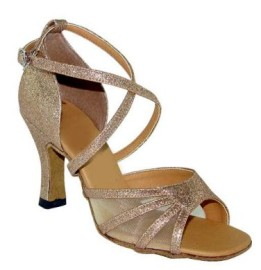 Sharon - Gold Glitter - Latin or Ballroom Dance Shoe