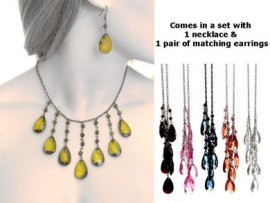 Teardrop Necklace & Earing Set